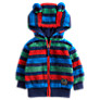 Baby Joule Baby Ted Zip Through Fleece Hoodie, Multi