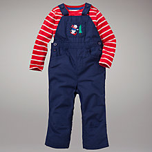 Buy John Lewis Dungarees and Stripe Top Set, Navy/Red Online at johnlewis.com