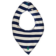 Buy Baby Joule Striped Bib, Blue Online at johnlewis.com