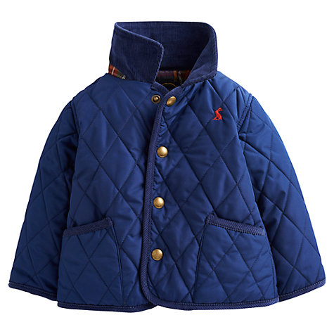 Buy Baby Joule Milford Quilted Jacket, Blue Online at johnlewis.com