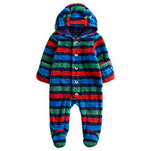 Buy Baby Joule Stripe Snuggle Sleepsuit, Blue/Multi Online at johnlewis.com