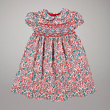Buy John Lewis Flower Print Smock Dress, Multi Online at johnlewis.com