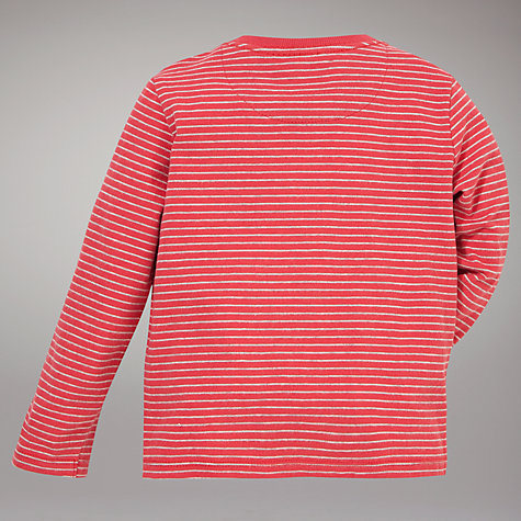 Buy John Lewis Penguin Stripe Long Sleeve Top, Red/Multi Online at johnlewis.com