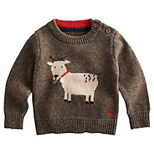 Buy Baby Joule Billy Goat Jumper, Brown Online at johnlewis.com