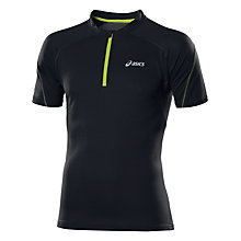 Buy Asics Mile Short Sleeve Half Zip Top, Black Online at johnlewis.com