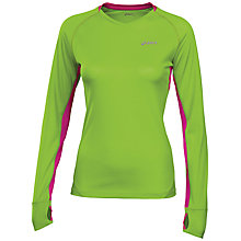 Buy Asics Fuji Long Sleeve Top, Green Online at johnlewis.com