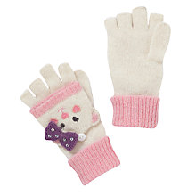 Buy John Lewis Girl Bear Character Gloves, Cream Online at johnlewis.com