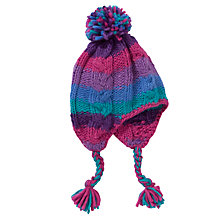 Buy John Lewis Girl Chunky Stripe Trapper Hat, Multi Online at johnlewis.com