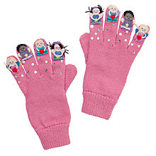 Buy John Lewis Girl Novelty Fair Gloves, Pink Online at johnlewis.com