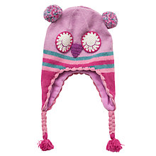 Buy John Lewis Girl Owl Trapper Hat, Pink Online at johnlewis.com