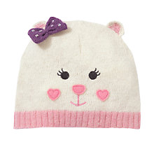 Buy John Lewis Girl Bear Character Hat, Cream Online at johnlewis.com
