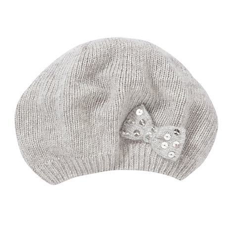 Buy John Lewis Girl Fine Knit Bow Beret Online at johnlewis.com