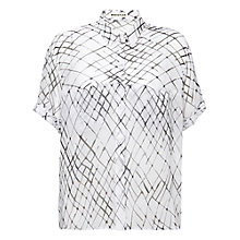 Buy Whistles Net Print Blouse, Black/White Online at johnlewis.com