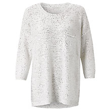 Buy Whistles Sequin Knit Jumper, White Online at johnlewis.com