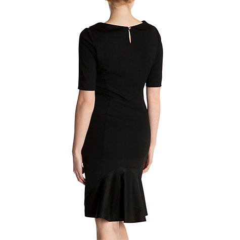 Buy Ted Baker Side Panel Ruffle Hem Dress, Black Online at johnlewis.com