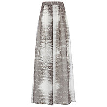 Buy Reiss Silvia Printed Maxi Skirt, Black Online at johnlewis.com
