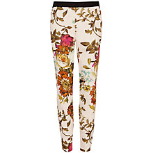 Buy Ted Baker Ilanna Floral Trousers, Straw Online at johnlewis.com