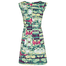 Buy Reiss Otto Printed Cotton Dress, Green Online at johnlewis.com