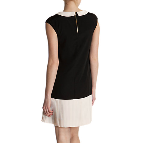 Buy Ted Baker Judeo Colour Block Pleat Dress, Jet Online at johnlewis.com