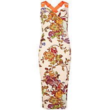 Buy Ted Baker Amabel Mid Summer Dress, Natural Online at johnlewis.com