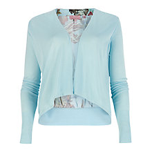 Buy Ted Baker Reeva Floral Wrap Cardigan, Powder Blue Online at johnlewis.com