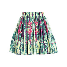 Buy Reiss Delia Gathered Skirt, Green Online at johnlewis.com