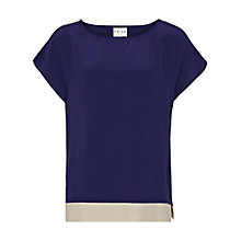 Buy Reiss Pippy Silk Contrast Top Online at johnlewis.com