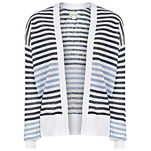 Buy Reiss Annie Print Cover Up Cardigan, French Blue Online at johnlewis.com