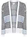Buy Reiss Annie Print Cover Up Cardigan, French Blue, XS Online at johnlewis.com
