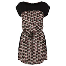 Buy Warehouse Ikat T-Shirt Dress, Black Pattern Online at johnlewis.com