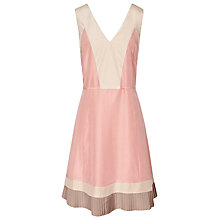 Buy Reiss Jesse Fabric Fit and Flare Dress, Salmon Online at johnlewis.com
