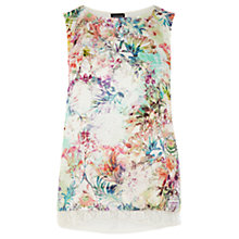 Buy Warehouse Floral Print Lace Top, Multi Online at johnlewis.com