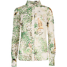 Buy Ted Baker Dancing Leaves Shirt, Jasmine Online at johnlewis.com