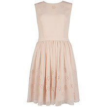 Buy Ted Baker Floror Waist Flower Dress, Natural Online at johnlewis.com