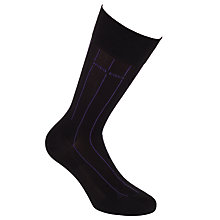Buy BOSS George Stripe Socks, Black/Purple Online at johnlewis.com