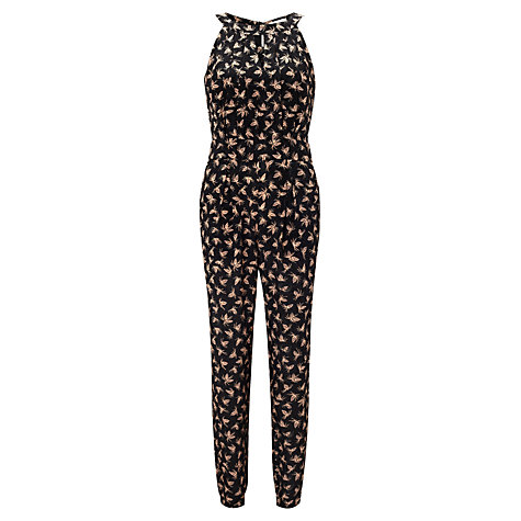 Buy Somerset by Alice Temperley Pine Cone Print Jumpsuit, Black Online at johnlewis.com