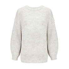 Buy Somerset by Alice Temperley Aran Jumper, Cream Online at johnlewis.com