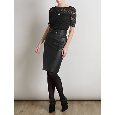Buy Somerset by Alice Temperley Lace Top, Black Online at johnlewis.com