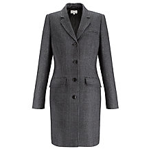Buy Somerset by Alice Temperley Houndstooth Coat, Black/Blue Online at johnlewis.com