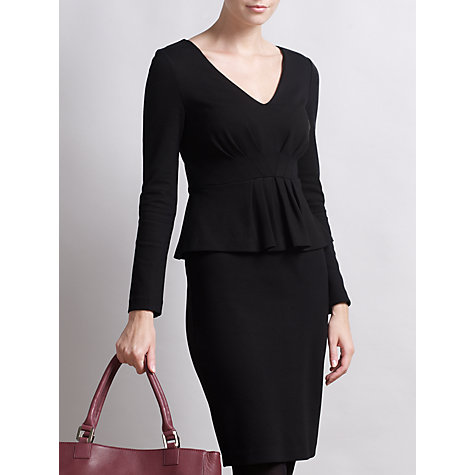 Buy Somerset by Alice Temperley Ponte Peplum Dress, Black Online at johnlewis.com