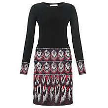 Buy Somerset by Alice Temperley Feather Print Knit Dress, Black Online at johnlewis.com