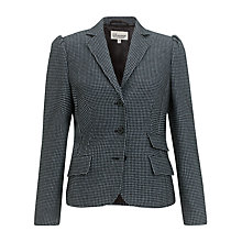 Buy Somerset by Alice Temperley Houndstooth Jacket, Black/Blue Online at johnlewis.com