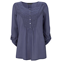 Buy Mint Velvet Iris Embroidered Bib Tunic Top Online at johnlewis.com