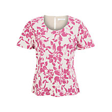 Buy Windsmoor Tulip Print Top, Pink Online at johnlewis.com