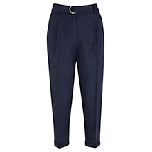 Buy Mint Velvet Cropped Peg Leg Trousers, Indigo Online at johnlewis.com