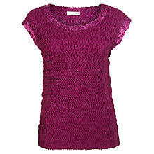 Buy Windsmoor Crinkle Top, Pink Online at johnlewis.com