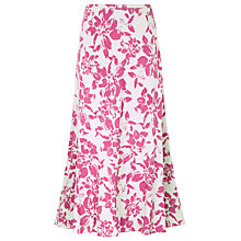 Buy Windsmoor Tulip Print Skirt, Pink Online at johnlewis.com
