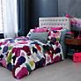 Buy bluebellgray Abstract Duvet Cover, Super Kingsize, Pink Online at johnlewis.com