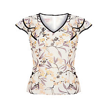 Buy Jacques Vert Floral Summer Blouse, Neutral Online at johnlewis.com