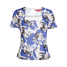 Buy Jacques Vert Abstract Floral Blouse, Blue Online at johnlewis.com